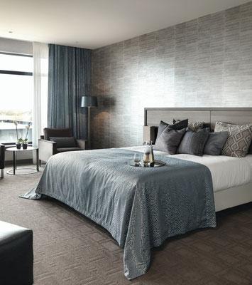 Schlafzimmergardine mit passender Tagesdecke, Maßanfertigung