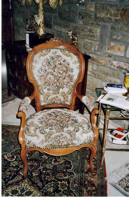 Stil Stuhl mit Gobelinstoff