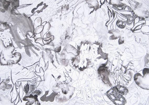 o.T. :: 2013 :: Mischtechnik auf Papier :: 65 x 46 cm