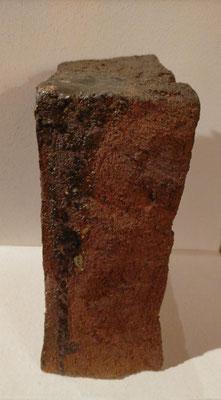 """""""Géométrie de la Matière 1  """" Sculpture grès roux  cuisson Noborigama H24cm/L18cm/larg11cm Pièce Unique -Juan José Ruiz dit """"Caco"""" Artiste Auteur/Sculpteur"""
