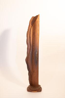 """Grand Vase drapé Terre d'expression haute température cuisson four à bois Noborigama de """"Caco et Sylvie"""" -Sylvie Ruiz Foucher- 2018"""