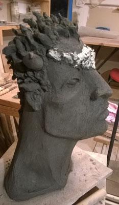 sculpture grès cru ...Caco 2017