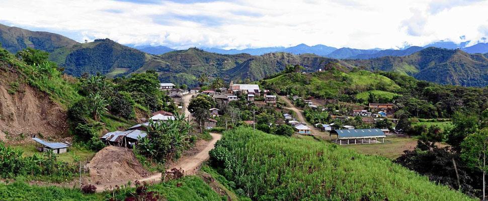 Der Ort La Balsa, letzter Ort vor der Grenze.