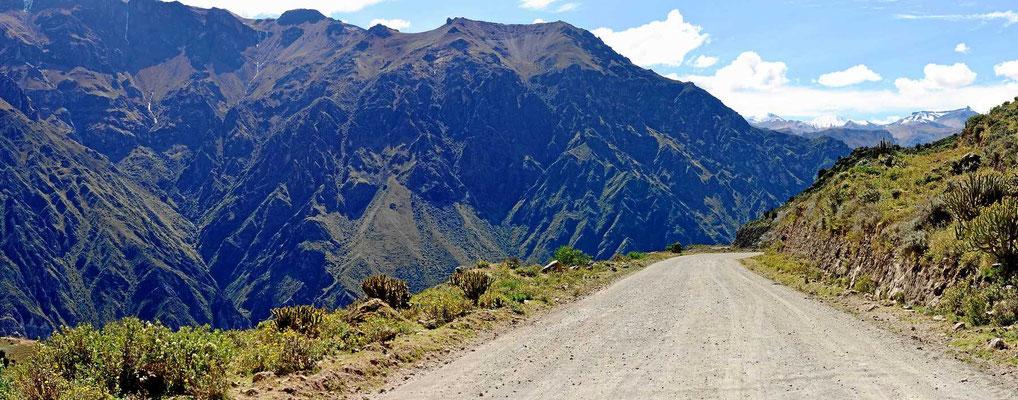 Fahrt entlang des Colca-Canyons nach Arequipa.