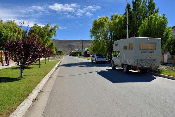 Unsere Übernachtungsstraße in Gobernador Gregores.
