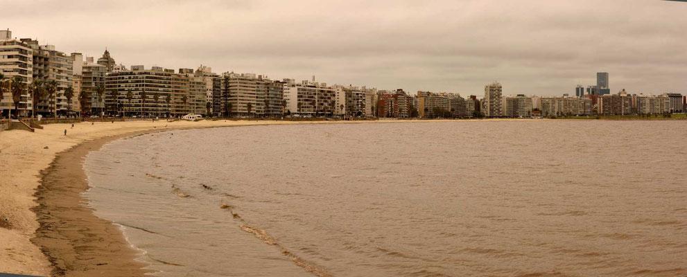 Nochmal die Ramblas von Montevideo mit ihren Stränden.