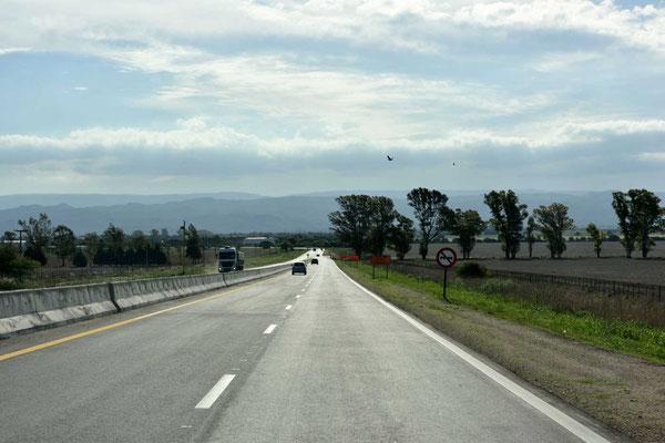 Ich nähere mich den Sierra Cordoba.