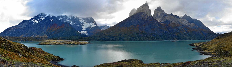 Wanderung zum Mirador am Lago Nordenskjold. Der Lago und die Torres.