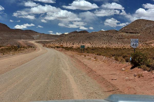 """Zurück zur Ruta 40, dem """"eigentlichen"""" Beginn der Fahrt."""
