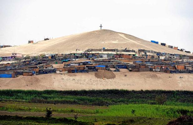 Der Ort Ica ist zum Teil auf Sand gebaut.