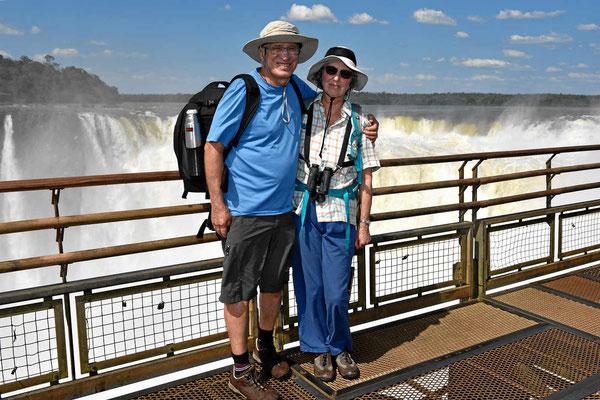 Selfie vor den Iguazu-Fälle.