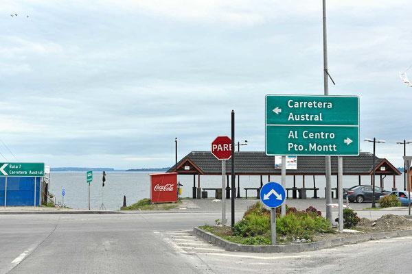 Der Beginn der Carretera Austral in Puerto Montt.