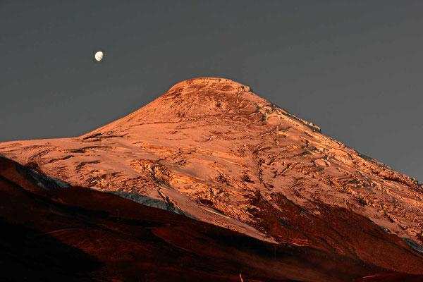 Der Osorno am Abend.
