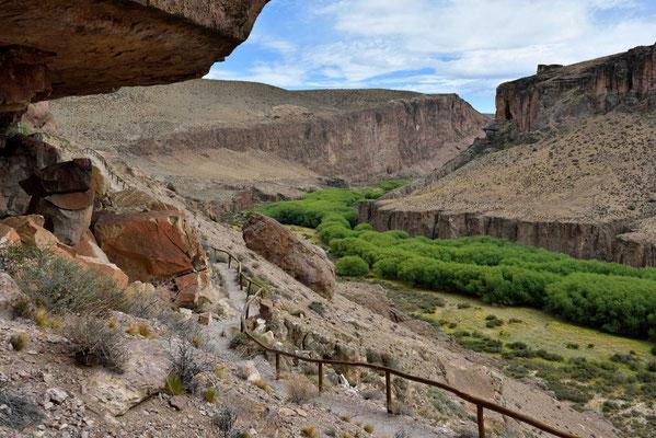 Der Canyon des Rio Pintura.