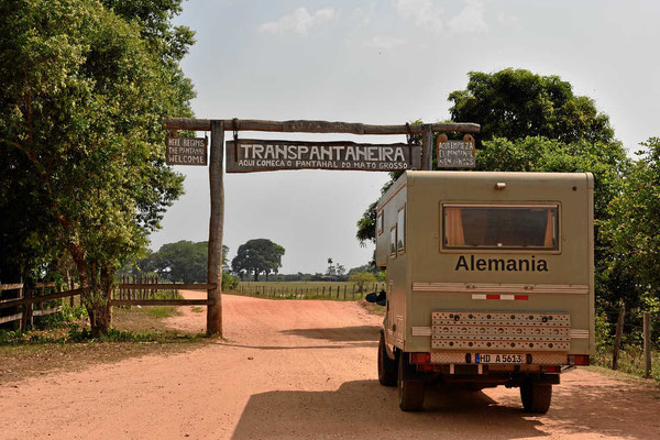 Eingang ins Nordpantanal.