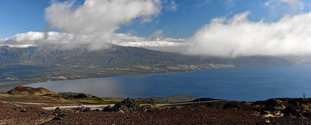 Der See llanquihue, Blick vom Osorno aus.
