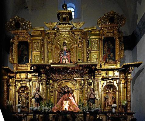 In den Kirchen von Cusco ist noch viel altes Incagold zu sehen.