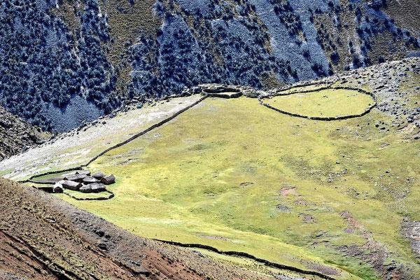 Ein Gehöft auf dem Altiplano.