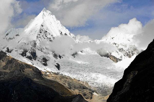 Die Gletscher der Codilliera Blanca.