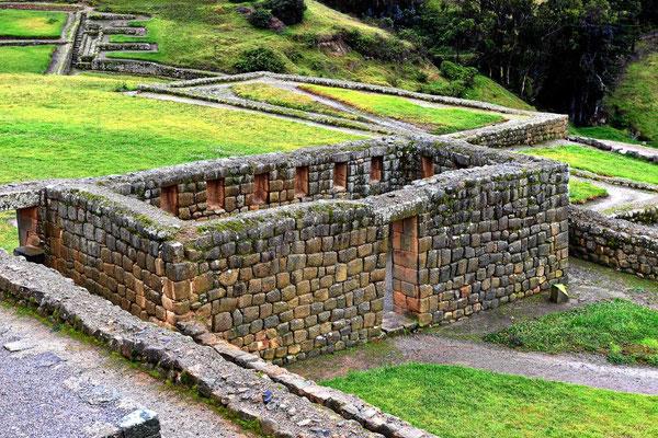 Eins der typischen Incagebäude, nur das Strohdach fehlt.