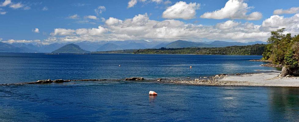Der See Rupanco, kaum zu glauben, dass die Ufer eines so schönen Sees im Privatbesitz sind.