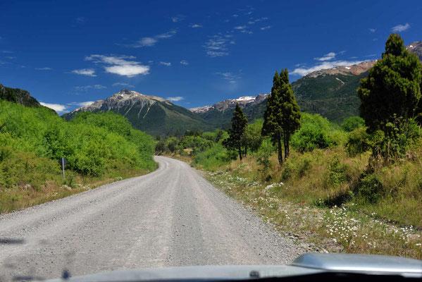 Auf dem Weg zum Grenzübergang nach Chile.l