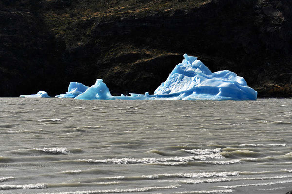 Ein Eisberg am Gray-See.