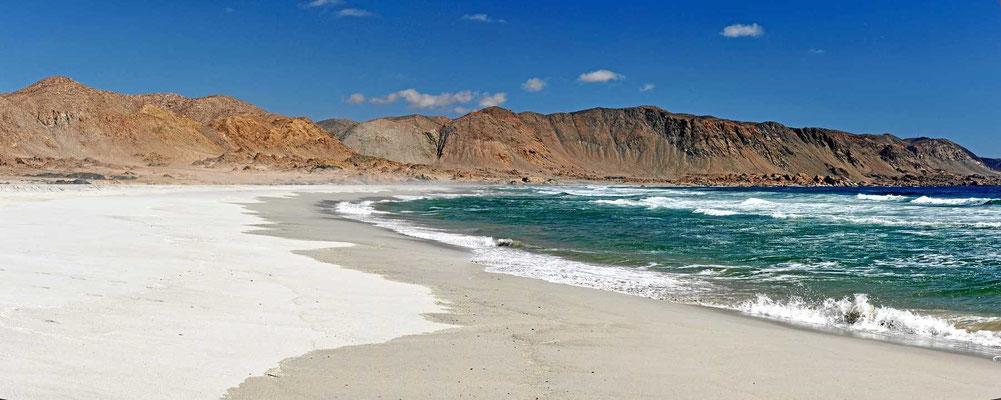 Weißer Sand.