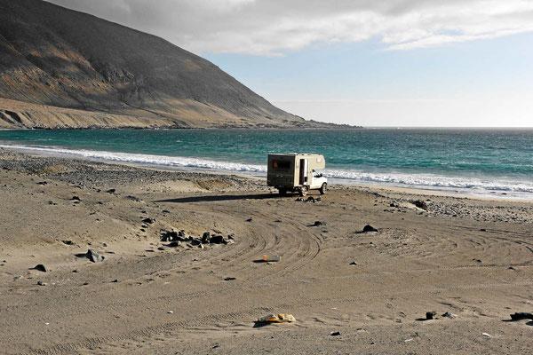 Unser erster Stellplatz am Meer.
