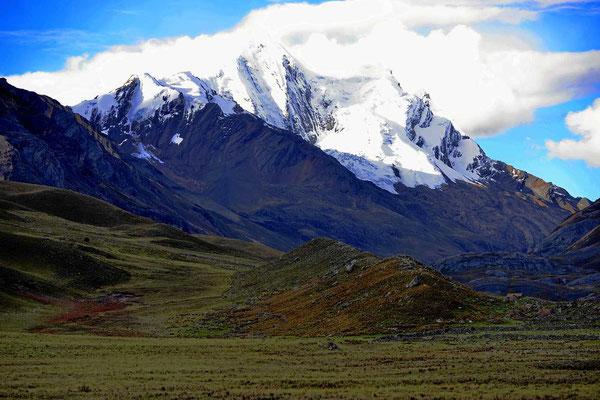 Auf dem Weg zu den Puya Raimondis, wir sind wieder zurück in den Gletscherbergen.