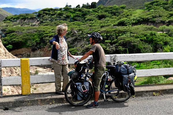 """Unser """"Fahrradtag"""", erst ein Japaner auf Pananmericana-Tour."""