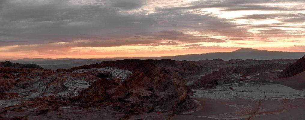 Das Valle de Luna im Abendlicht.