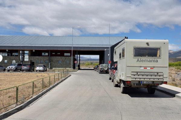 Die chilenische Grenze bei der Ausreise.