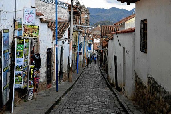 Altstadtstraße in Cusco