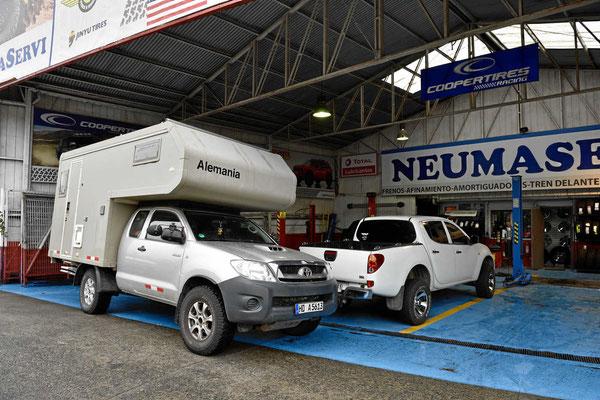 Der Toyotaservice in Puerto Montt, der alle weiteren Arbeiten durchführte.