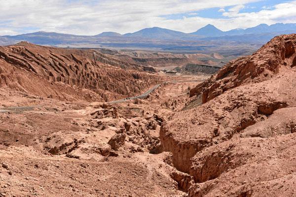 Fahrt vom Valle de Luna nach San Pedro de Atacama.
