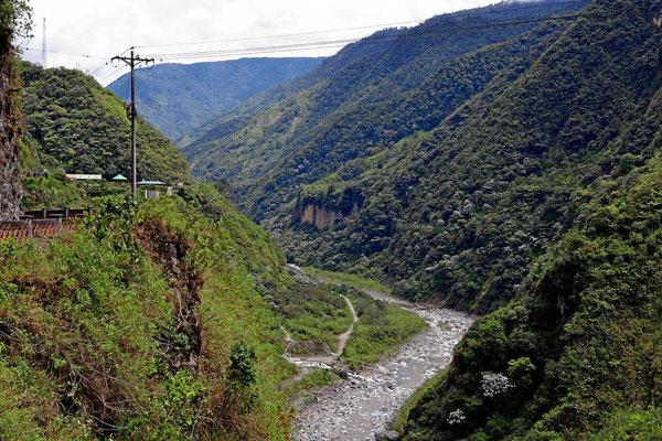 Das Tal des Rio Pastaza.