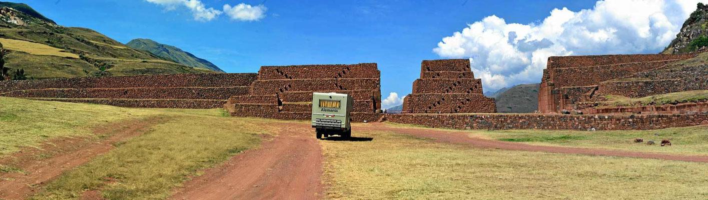 Einer Inca-Sperrmauer.