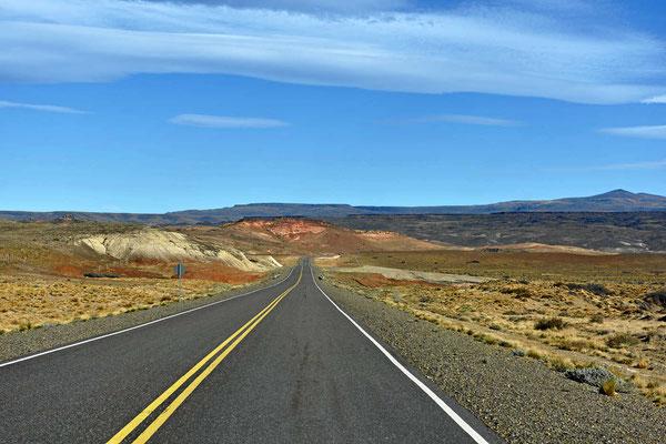 Fahrt durch die argentinische Pampa.