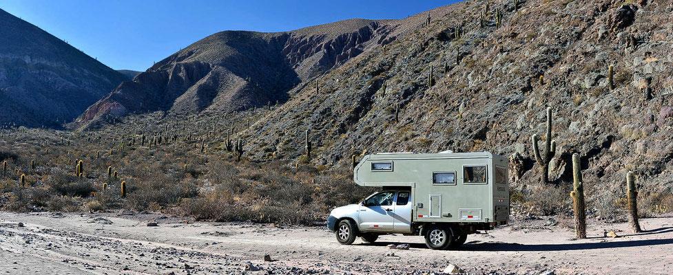 Mein nächster Übernachtungplatz, traumhaft schöner Wüstenlandschaft.