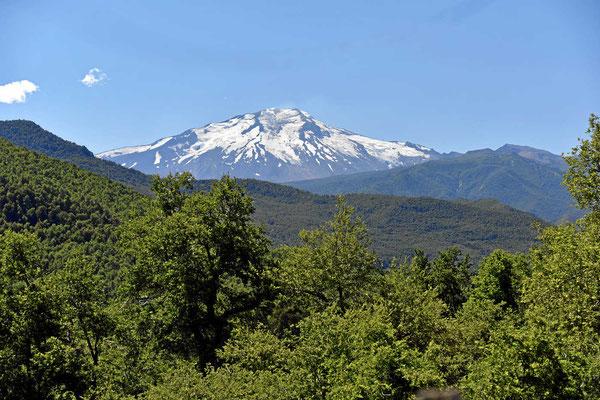 Blick auf den Vulkan Callaquen, 3164 m hoch.