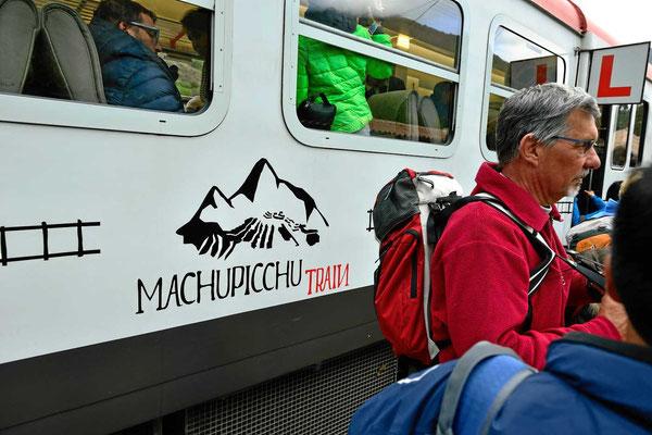 Die Schmalspurbahn nach Machu Picchu.