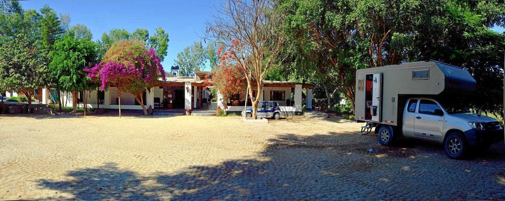Unser Übernachtungsplatz im Hotel San Marcelo