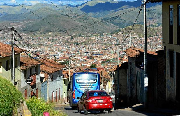 Abfahrt nach Cusco