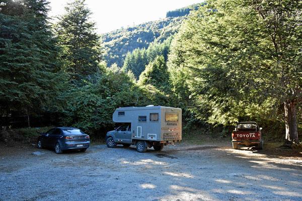 Unser Parkplatz im Nationalpark Huerque.