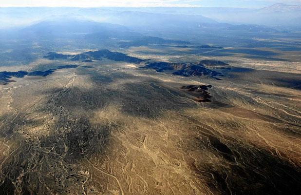 Die Landschaft um Nazca, mal vom Flugzeug aus gesehen