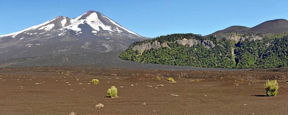 Die großen Lavafelder am Llaima faszinieren uns immer wieder.