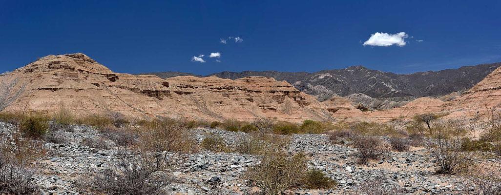 Surrealistische Landschaft im Valles Calchaquies.