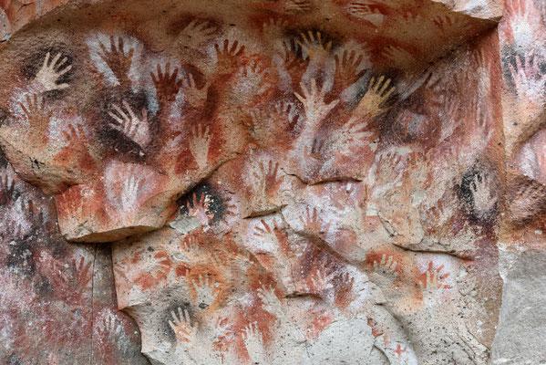 Höhlenmalereien in den Cueva de las Manos.