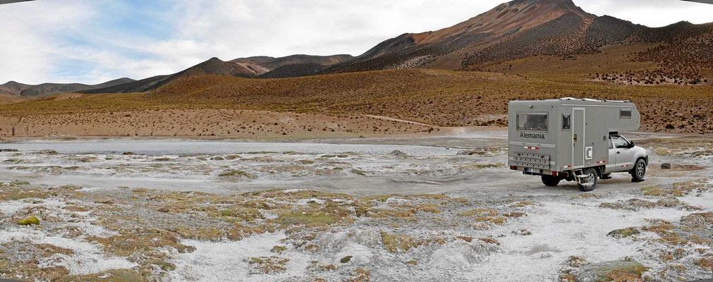 Wir sind an der thermischen Quelle von Polloquere angekommen.
